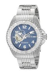 Invicta Pro Diver Automatic Open Heart Stainless Bracelet Watch Blue Men's