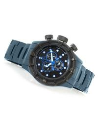 Invicta Men's Bolt Sport Quartz Chrono Ceramic Bracelet Watch Black / Blue Men's