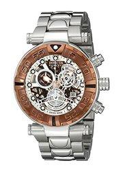 Invicta Reserve Men's Subaqua Specialty Swiss Made Quartz Chrono Bracelet Watch Silvertone Men's