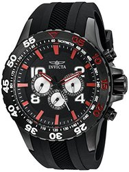 Invicta Men's Aviator Quartz Poly Strap Watch W/ 8dc Black Men's
