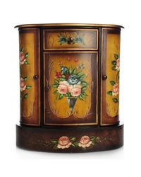 Style At Home With Margie Hand Painted French Meadow Cabinet Multi No Size