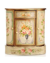 Style At Home With Margie Hand Painted French Meadow Cabinet Honey/brown No Size