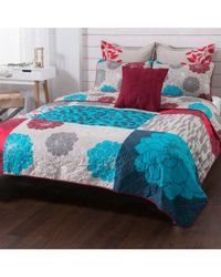 "Believe At Home By Michelle Williams ""calista"" 100% Cotton 6 Piece Quilt Set Multi King"