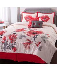"""Cozelle """"azalea"""" 6 Piece Microfiber Comforter Set Multi King"""