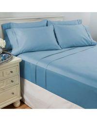 North Shore Living 950tc 100% Egyptian Cotton Suresoft 6 Piece Sheet Set Sky Blue California King