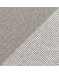 North Shore Linens 100% Egyptian Cotton Chevron Jumbo 2tone Throw W/ Solid Throw Grey No Size