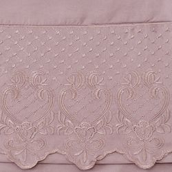 Cozelle Microfiber Embroidered Hem Four-piece Sheet Set Rose Queen