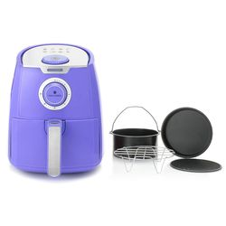 Paula Deen 3.5qt 1400w Manual Air Fryer W/ Accessories - Lavender