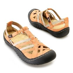 "Jbu By Jambu ""anza"" Memory Foam Color Blocked Comfort Sandal Citrus 9"