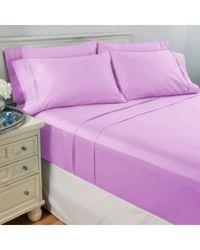 North Shore Living 950tc 100% Egyptian Cotton Suresoft 6 Piece Sheet Set Lavender King