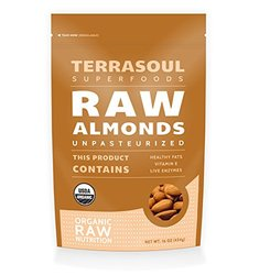 Terrasoul Superfoods Raw Unpasteurized Sproutable Organic Almonds - 16 oz
