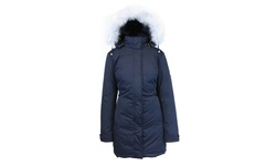 Spire By Galaxy Women's Long Heavyweight Parka - Navy - Size: Medium