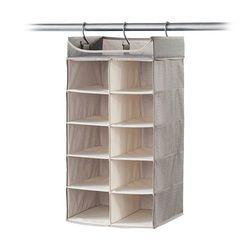 Twill 2' x 5' Shelf Closet Organizer - Grey