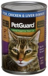 PetGuard Fish Chicken & Liver Natural Food for Cats - 14 oz.