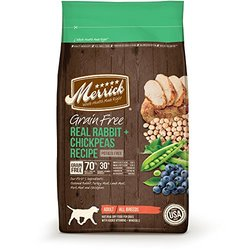 Merrick Grain Free Real Rabbit + Chickpeas Recipe Dry Dog Food, 4-Pound