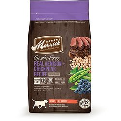 Merrick Grain Free Real Venison + Chickpeas Recipe Dry Dog Food, 4-Pound