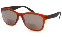 Calvin Klein Square Unisex Sunglasses - Orange/Black
