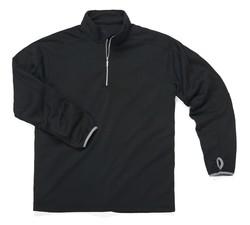 Zorrel Men's Verona 1/4 Zip Fleece Pullover - Black - Size: Medium