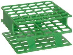 Heathrow Polyoxymethylene Half Size Test Tube Rack - Green - Size: 16mm