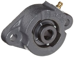 NTN Light Duty Flange Bearing with 2 Bolts - Size: 25mm (CM-UCFL205D1)