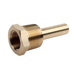 """Noshok Brass Thermowell - Size: 2-1/2"""" x 3/4"""" (75-025-BRASS)"""