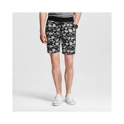 Mossimo Men's Knit Shorts Leaf Print - Black & White - Size: Medium