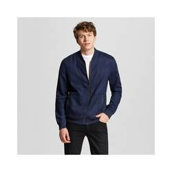 Mossimo Men's Linen Bomber Jacket - Navy - Size: Small