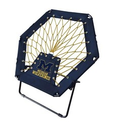 NCAA Michigan Wolverines Folding Bungee Chair - Blue