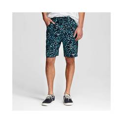 Mossimo Men's Palm Print Shorts - Navy - Size: Small