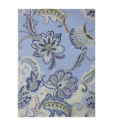 Boho Boutique Floral Wool Area Rug - Size: 7'x10' - Blue Multi