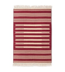 Mudhut Flatweave Striped Area Rug - Multi - Size: 7'x10'