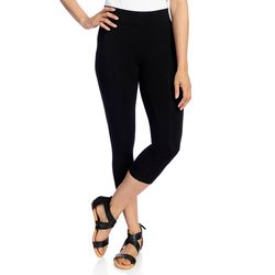 Kate & Mallory Women's Knit Pull-on Ankle-Length Leggings - Black - Sz: 2X