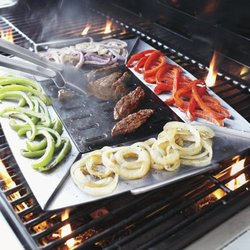 Sur La Table Stainless Steel Grill & Sear Plancha - 17x14