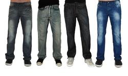 Dinamit Jeans Men's Straight Leg Jeans 2 Pack - Navy/G Black - Size: 33