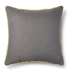 Room Essentials Piping Throw Pillow - Grey/Yellow - Size: One