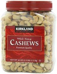 Kirkland Signature cashew nuts premium quality 1.13kg bottled plenty