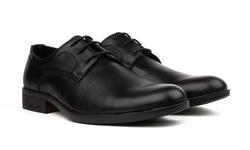Royal Men's Lace-up Dress Shoes - Black - Size: 12