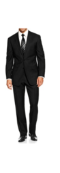 Braveman Men's Classic Fit 2-piece Suit - Black - Size: 38S x 32W