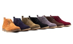 Braveman Men's Suede Chukka Boots: Black/9.5