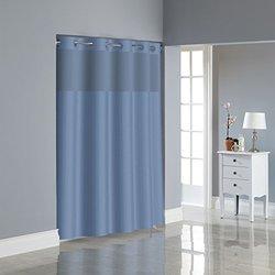 Shwr Curtain Herringbone Midngt Blu