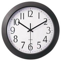 "Universal Whisper Quiet Clock - 12"" - Black (10451)"