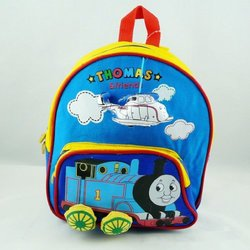 Korea Thomas Locomotive Wheels Nursery Baby Child Backpack - Blue