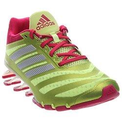 adidas Performance Women's Springblade W Running Shoe,Frozen Yellow/Bold Pink/White,10 M US