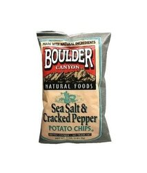 Boulder Canyon Avocado Oil Canyon Cut Kettle Cooked Potato Chips - 5.25 Oz