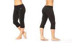 Marika Women's Magic Tummy Control Capri Leggings - Black - Size: Large 307145