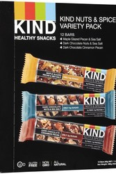 Kind Nuts & Spices Assorted Plus Bars - Pack of 12