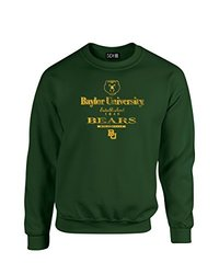 NCAA Baylor Bears Stacked Vintage Crew Neck Sweatshirt, Large, Forest