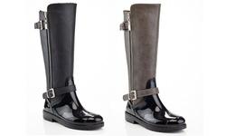 Eddie Marc Women's Cold Weather Riding Boots - Black - Size: 8