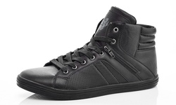 Adolfo Albert Men's High-top Sneakers - Black - Size: 9