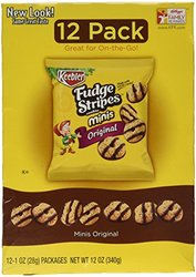 Keebler Fudge Stripes Original Minis Cookies - 12 count/1 oz each